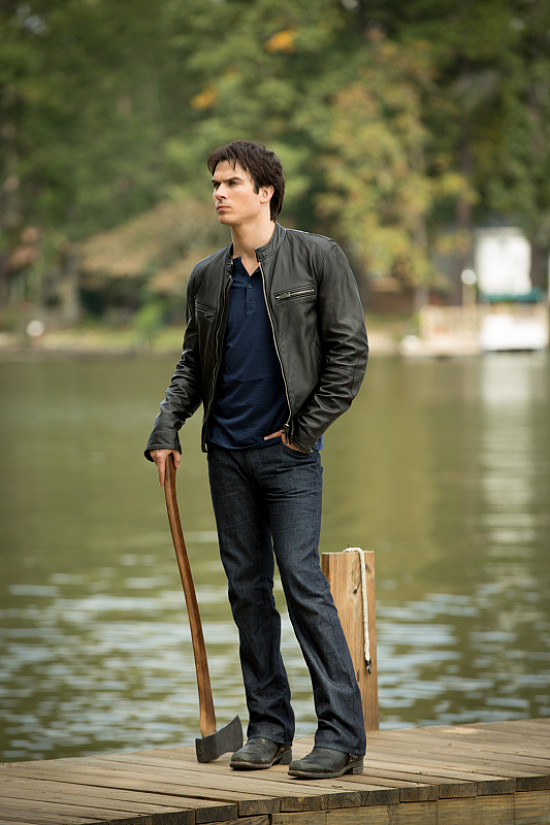 Damon Salvatore Standing on Dock