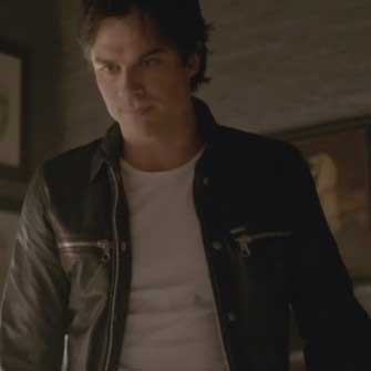 Damon Salvatore Moto Jacket