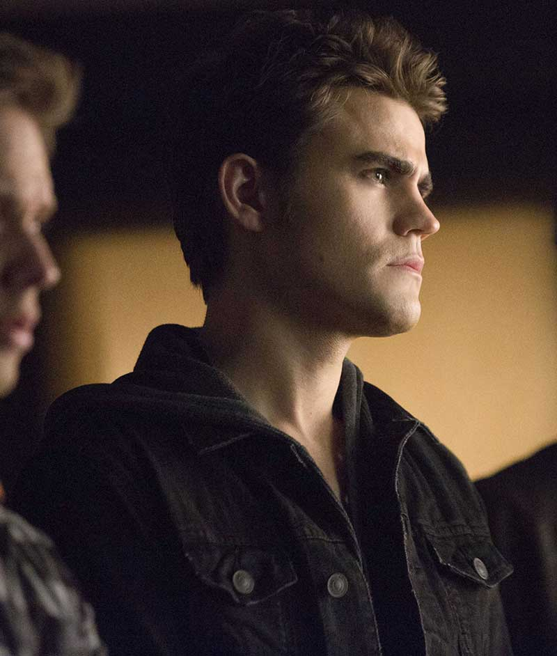 Stefan Salvatore Black Denim Jacket