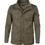 Military Green Zip up Jacket