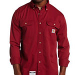 Red Carhartt Work Shirt