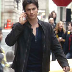 Damon Salvatore John Varvatos Suede Jacket
