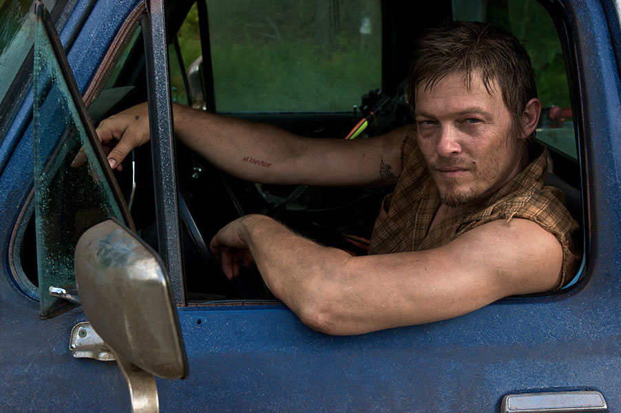 Daryl Dixon Sitting in a Truck