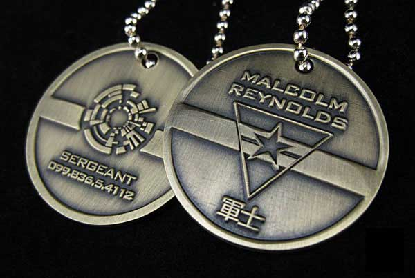 Captain Malcolm Reynolds Dog Tags