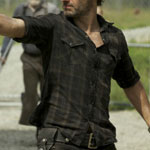Rick Grimes Dark Plaid Shirt