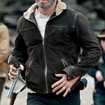 Rick Grimes Fur Lined Black Suede Jacket