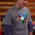 Sheldon Cooper JLA Tshirt
