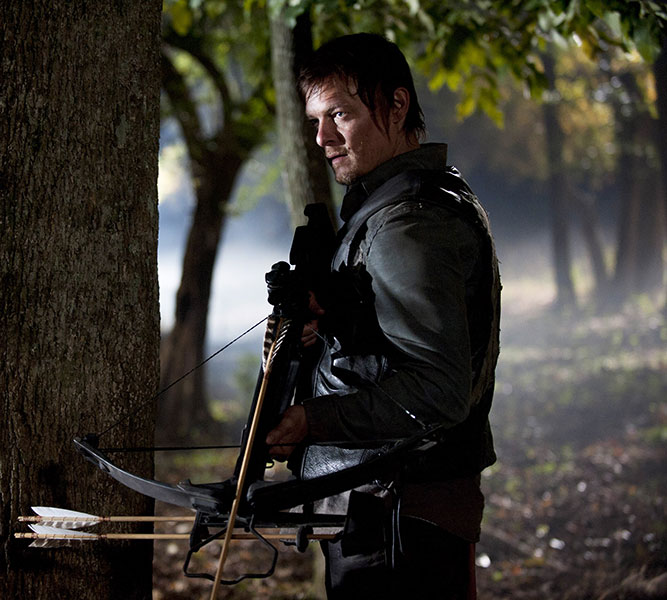 Daryl Dixon Standing with Crossbow