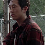 Glenn Rhee Red Flannel Shirt