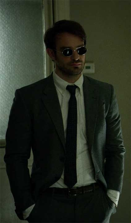 Matthew Murdock Grey Suit Hands in Pockets