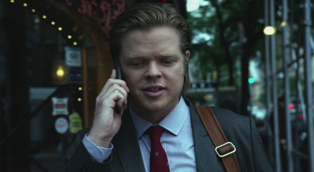 Foggy Nelson Red Tie Blue Shirt