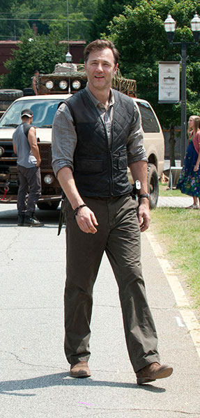 The Governor Walking