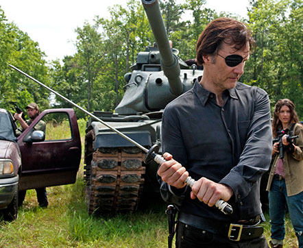 The Governor Holding Michonne Katana