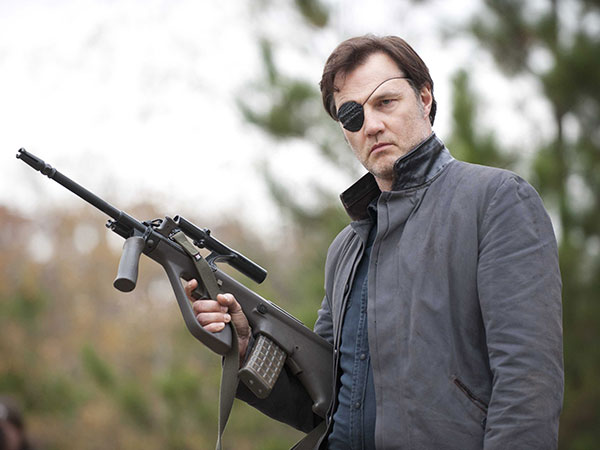 The Governor Holding a Rifle