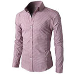 H2H Pink Patterned Dress Shirt