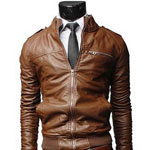 Chouyatou Leather Jacket