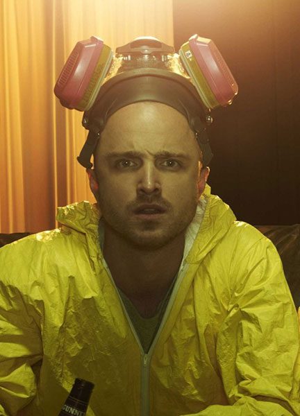 Jesse Pinkman Yellow Jumpsuit and Respirator