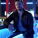 Oliver Queen Brown Bomber Jacket