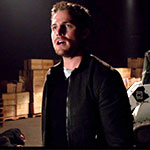 Oliver Queen Flat Leather Jacket