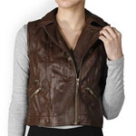 Viv Faux Leather Vest