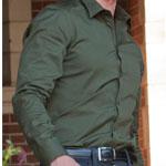 Ben Harmon's Green Dress Shirt