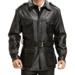 BGSD Black Leather Trench Coat