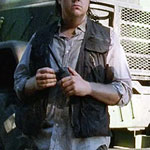 Eugene Porter's Gray Button Up Shirt