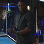 John Diggle's Grey Long Sleeve Button Up Shirt