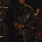 John Diggle's Leather Military Jacket