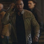 John Diggle's Light Grey Moto Jacket