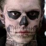 Tate Langdon's Skull Face