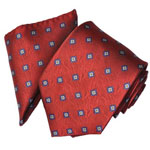Covona Red Pattern Tie