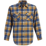 Gioberti Blue and Gold Plaid Shirt