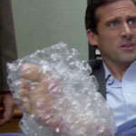 Michael Scott's Bubble Wrapped Foot