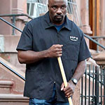 Luke Cage Zip Front Work Shirt