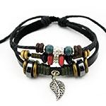 Metal Leaf Pendant Bracelet