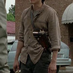 Glenn Rhee Beige Button Down Shirt