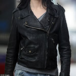 Jessica Jones Black Leather Motorcycle Jacket