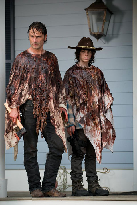 Rick and Carl Grimes The Walking Dead