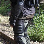 Eugene Porter Riot Gear Thigh Guards