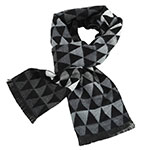 Marca West Black and Gray Scarf