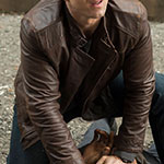 Will Simpson Brown Leather Jacket