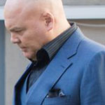 Wilson Fisk Black Pocket Square