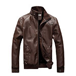 Zeagoo Brown Leather Jacket