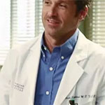 Derek Shepherd Blue Button Down Shirt
