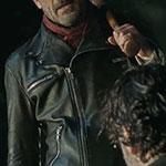 Negan Black Leather Biker Jacket