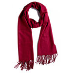 Plum Feathers Burgundy Scarf