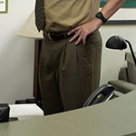 Dwight Schrute Brown Slacks