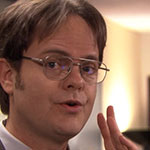 Dwight Schrute Aviator Frame Glasses