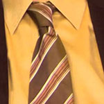 Dwight Schrute Gold Pattern Neck Tie